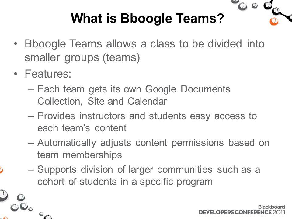 Bboogle Teams Architecture