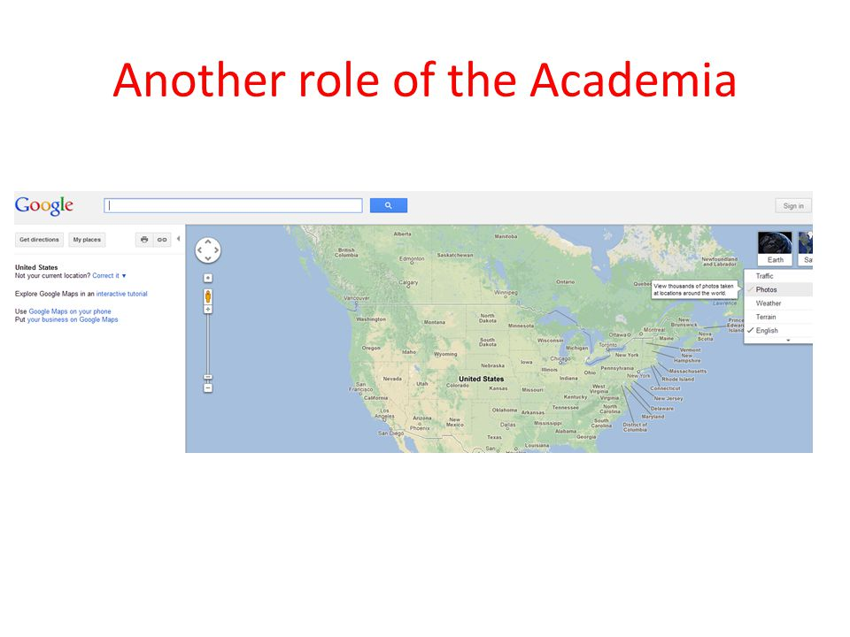 Another role of the Academia