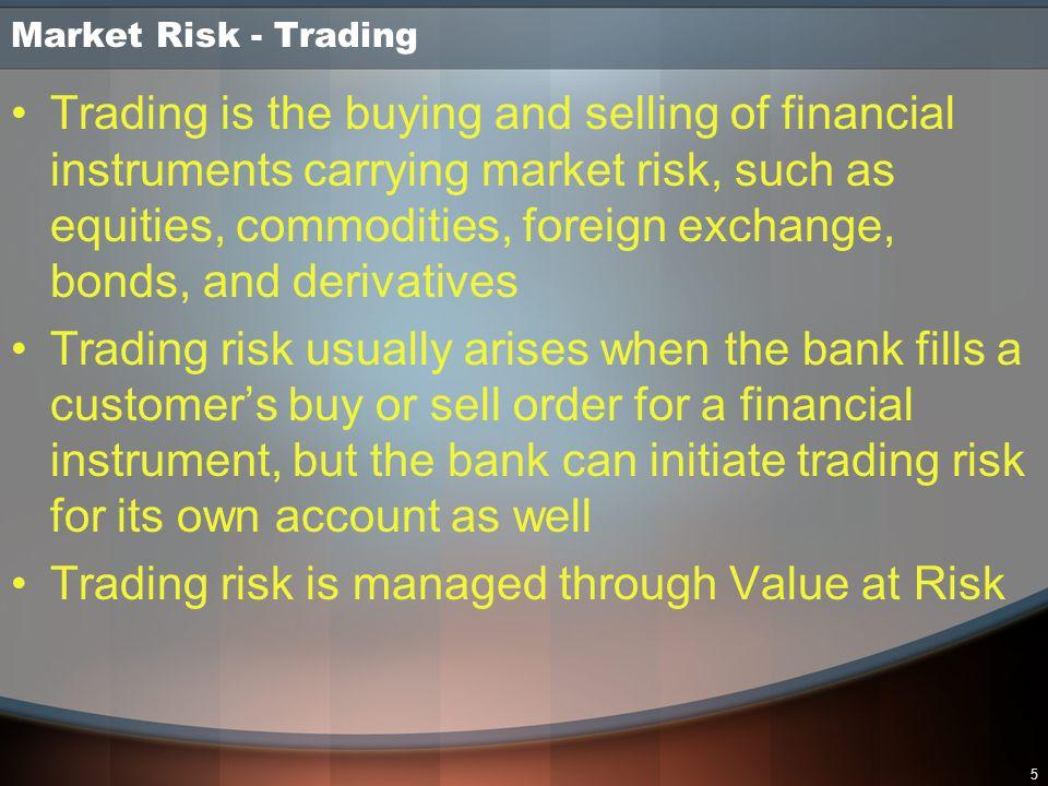 6 Market Risk - Trading Method 1 Grouping Method 2 Grouping