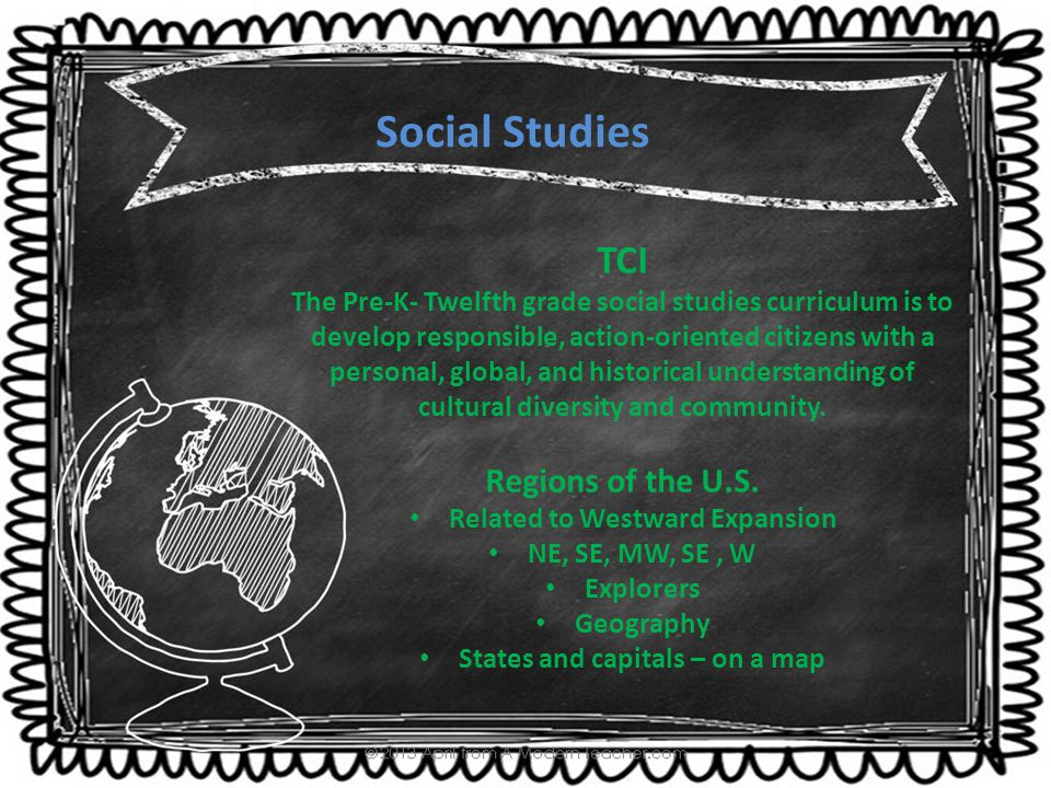 TCI The Pre-K- Twelfth grade social studies curriculum is to develop responsible, action-oriented citizens with a personal, global, and historical und