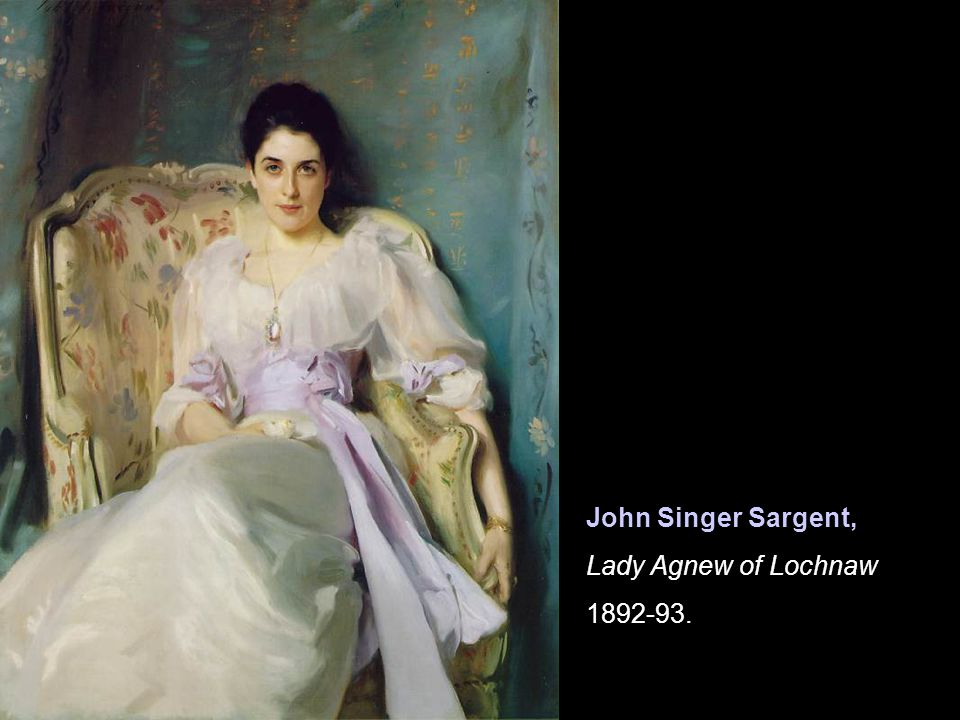 John Singer Sargent, Lady Agnew of Lochnaw 1892-93.