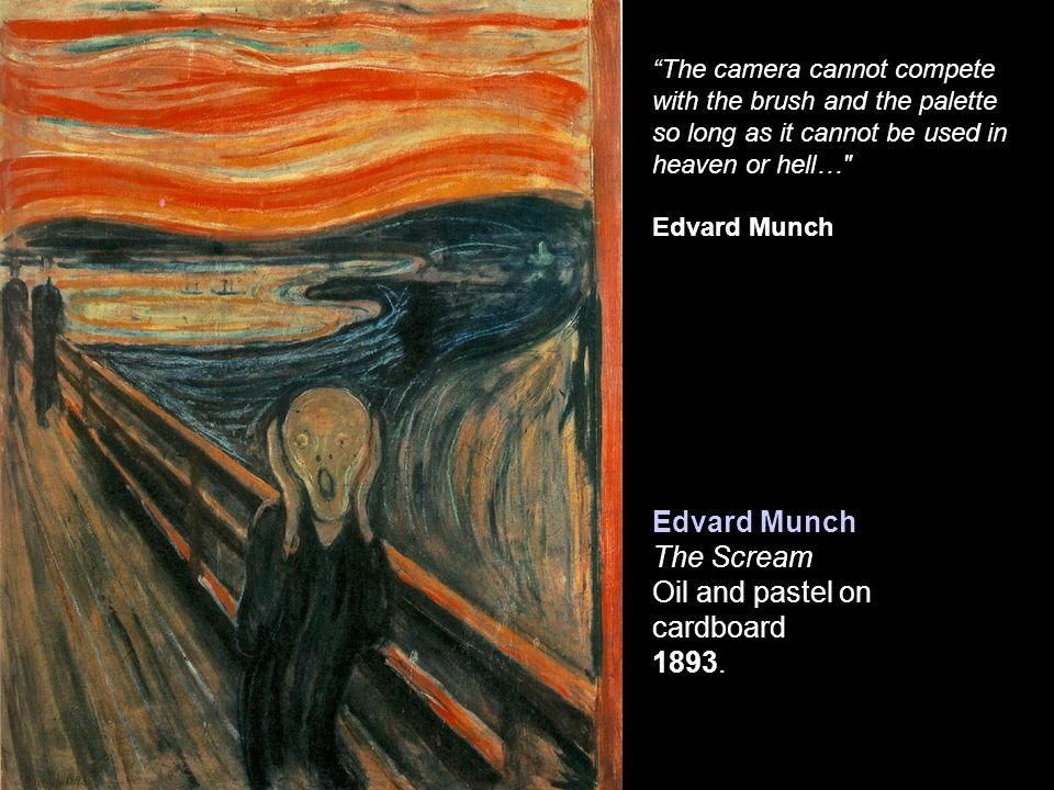 Edvard Munch The Scream Oil and pastel on cardboard 1893.