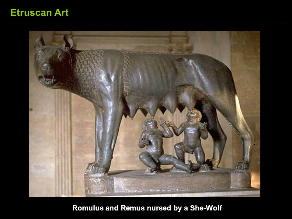 Romulus and Remus nursed by a She-Wolf Etruscan Art