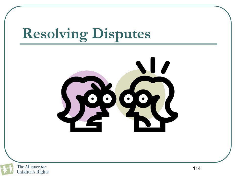 114 Resolving Disputes