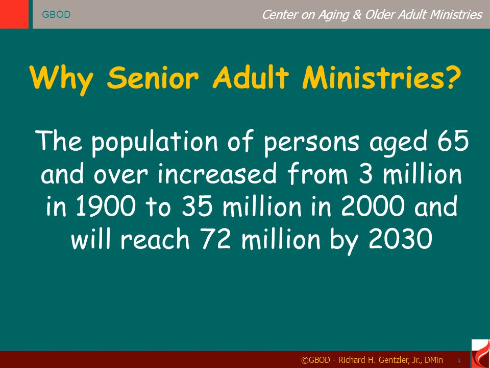 GBOD Center on Aging & Older Adult Ministries ©GBOD - Richard H.