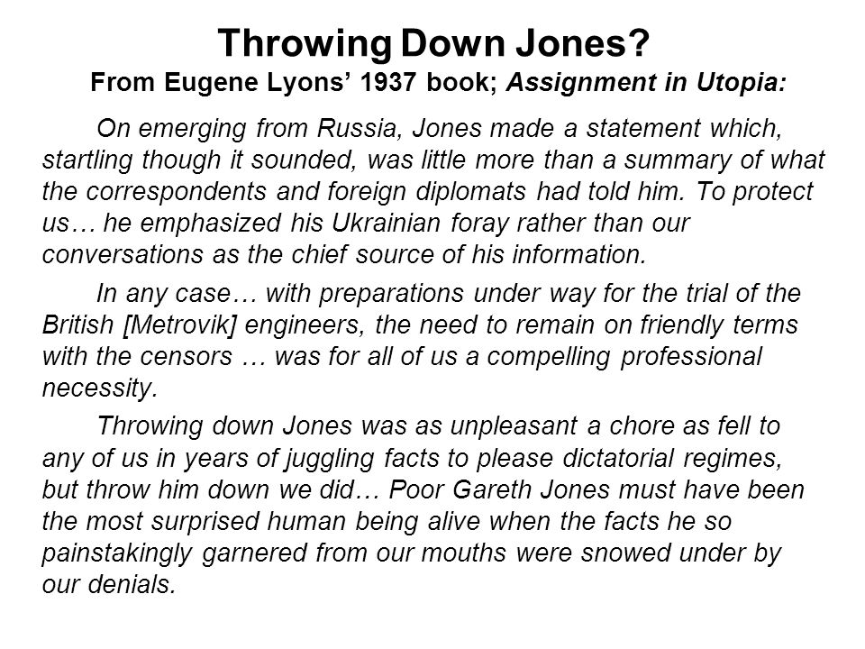 Throwing Down Jones.