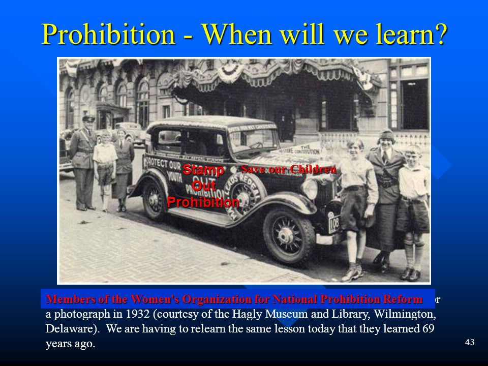 42 Prohibition - When will we learn.