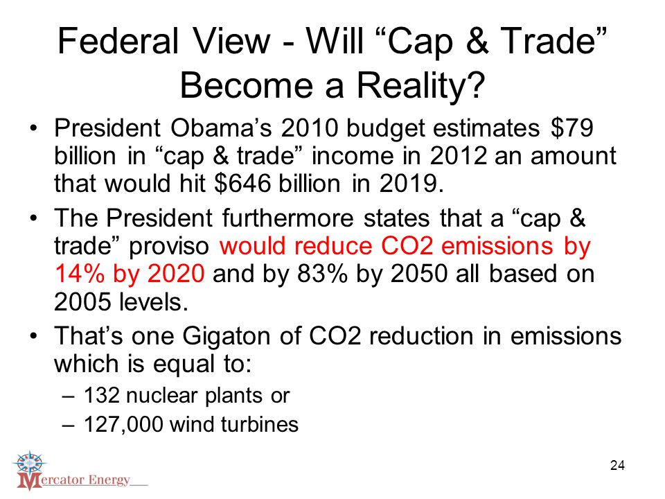 24 Federal View - Will Cap & Trade Become a Reality.