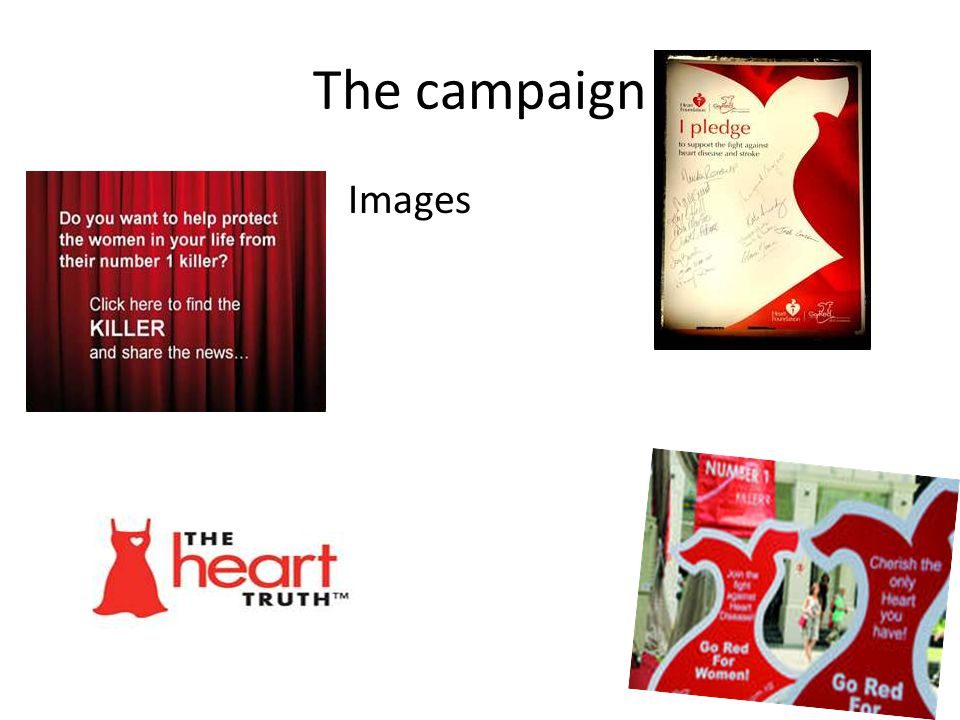 How can the Go Red campaign raise political will.