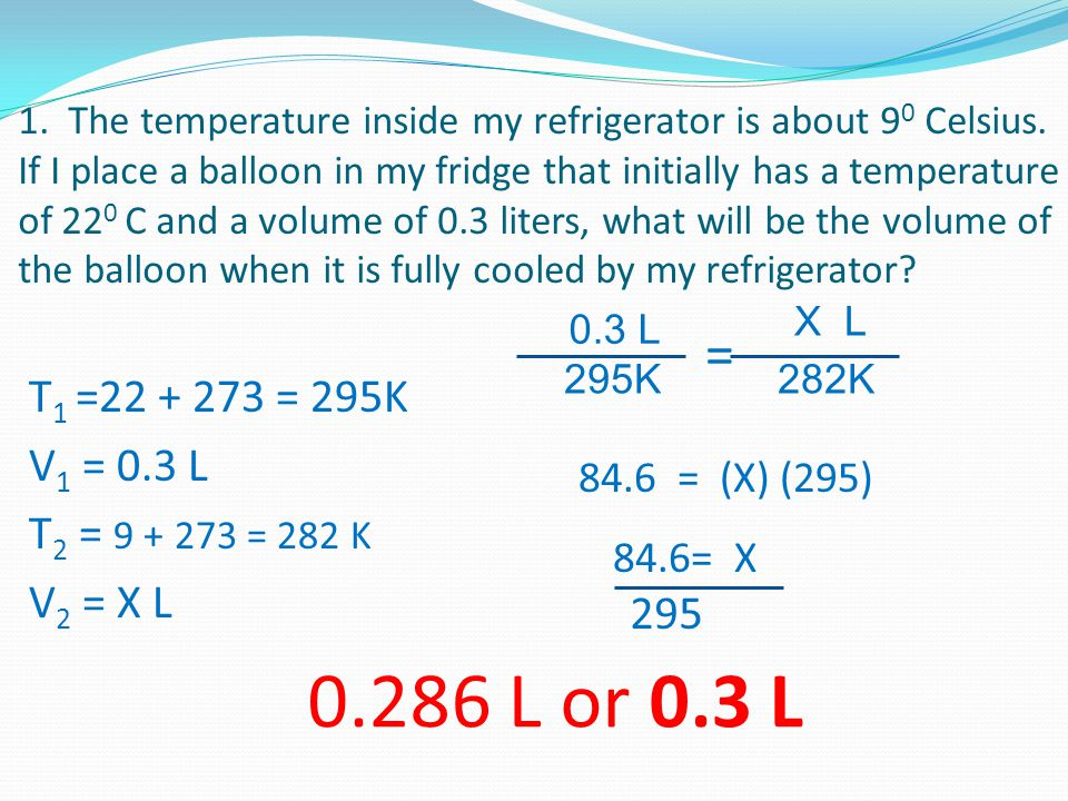 1. The temperature inside my refrigerator is about 9 0 Celsius.
