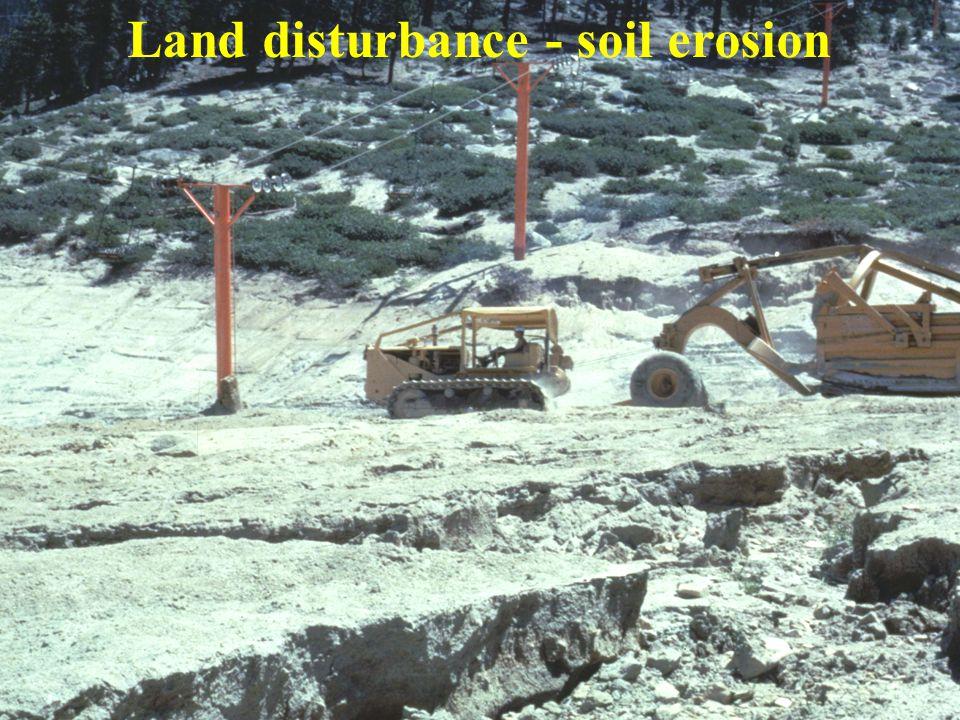 Land disturbance - soil erosion