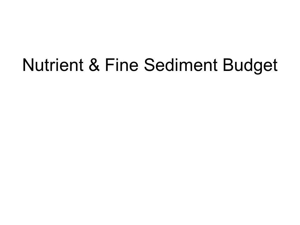 Nutrient & Fine Sediment Budget
