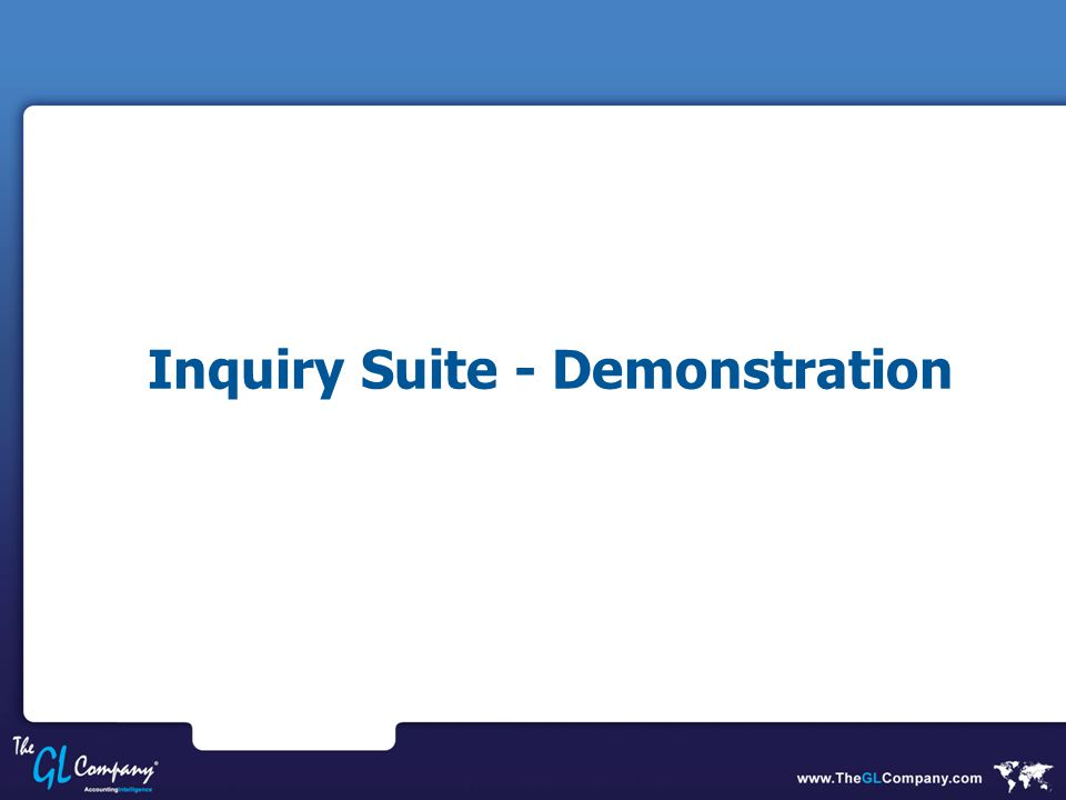 Inquiry Suite - Demonstration