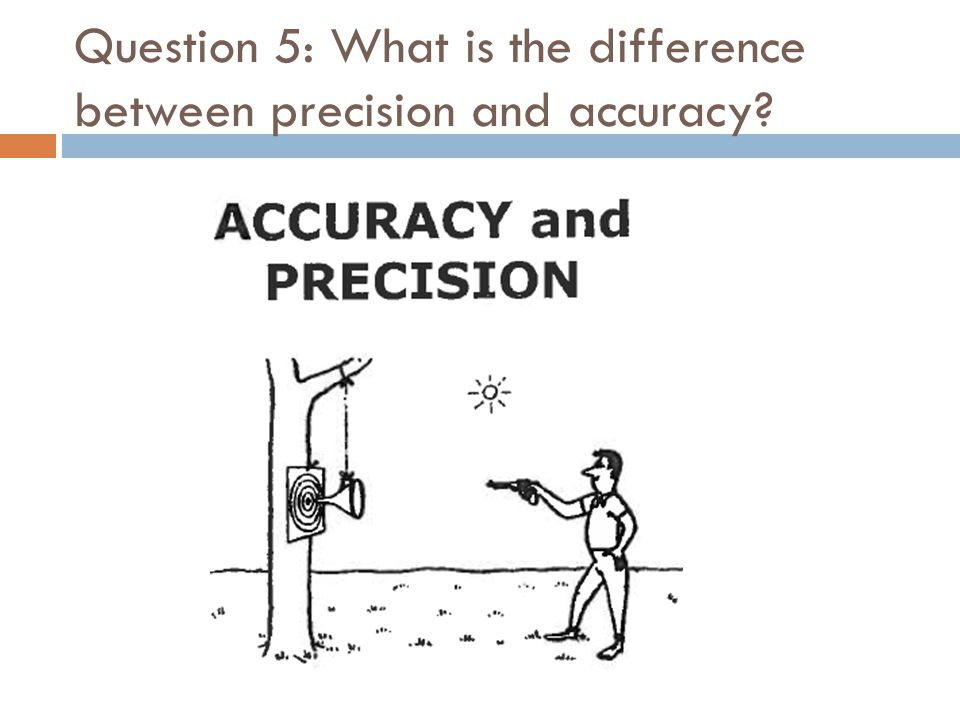 Question 5: What is the difference between precision and accuracy?