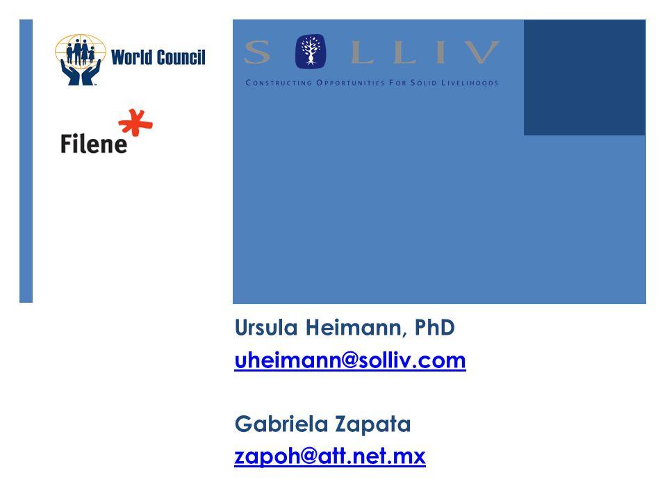 Ursula Heimann, PhD uheimann@solliv.com Gabriela Zapata zapoh@att.net.mx