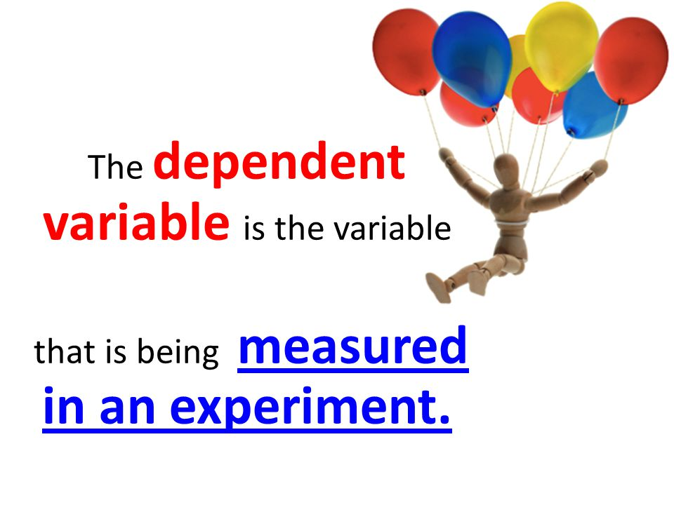 The dependent variable is the variable that is being measured in an experiment.