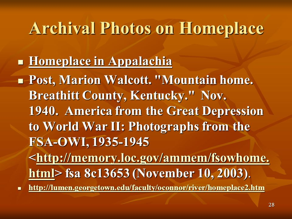 28 Archival Photos on Homeplace Homeplace in Appalachia Homeplace in Appalachia Post, Marion Walcott.
