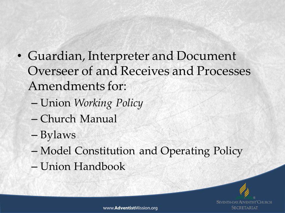 S ECRETARIAT GC Working Policy, pg.146, Art V, Sec.
