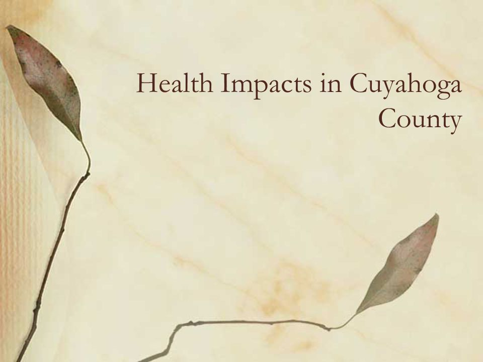 Health Impacts in Cuyahoga County