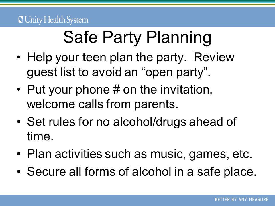 What Parents Need to Know Parents host a party and serve alcohol to minor (clear violation ) No alcohol served but minors are allowed to drink alcohol