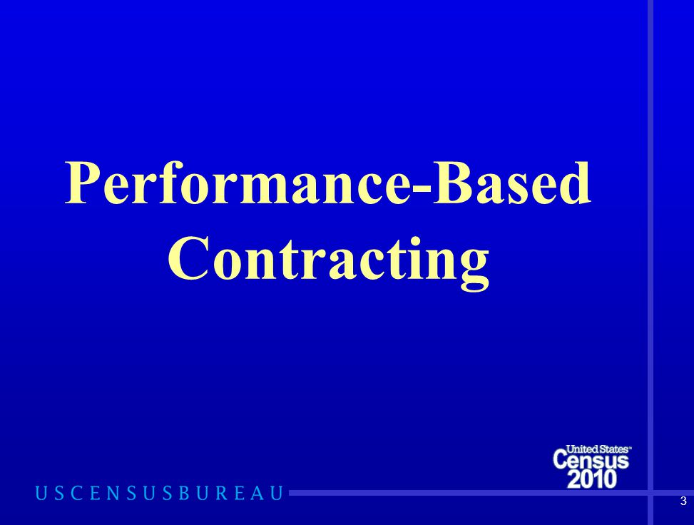 3 Performance-Based Contracting