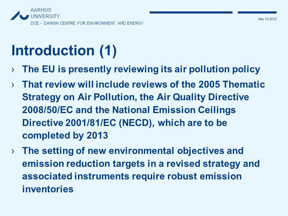 AARHUS UNIVERSITY DCE - DANISH CENTRE FOR ENVIRONMENT AND ENERGY May 14 2012 Task 6: Review and addition of NMVOC emissions from manure management ›Goal: ›To develop tier 1 and 2 EFs ›Aspects: ›Analysis of the impact of manure management system on the NMVOC emission ›Development of Tier 1 and 2 EFs taking into account new literature data especially from the US where a large emission study has been undertaken on 25 sites with different animal types from 2007 to 2009 ›Resources: 30 days