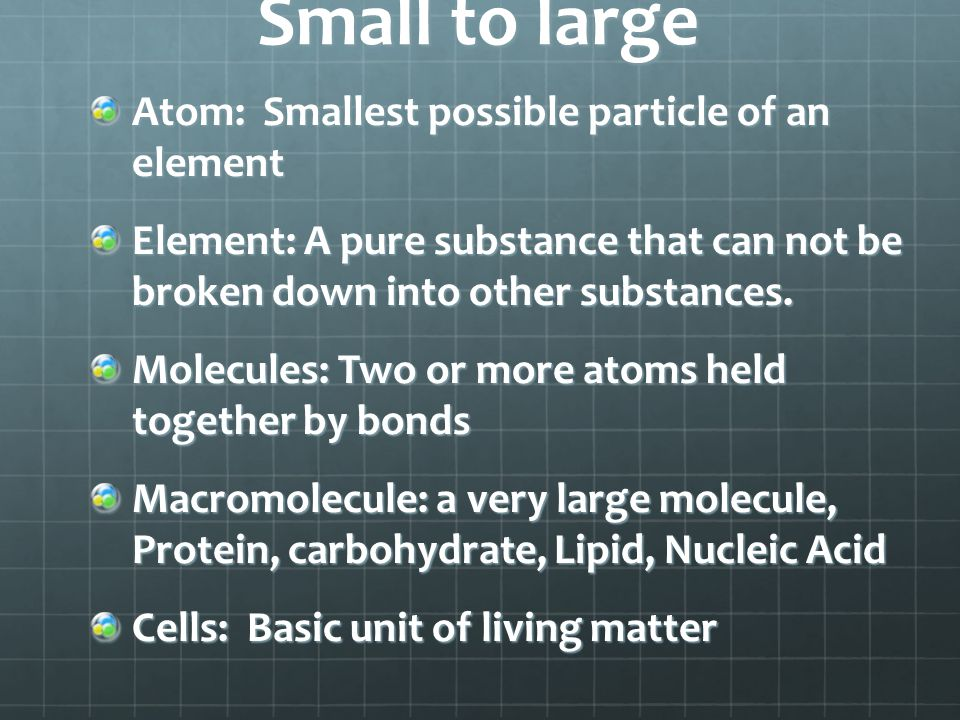 Chemistry An atom contains; protons, neutrons, and electrons Atomic number: the number of protons found in the nucleus of an atom Periodic Table of Elements: An arrangement of elements based on their atomic number and mass Elements are also placed due to the number of electrons in the outer shell