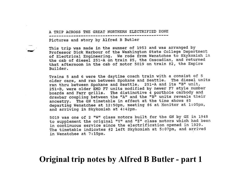 Original trip notes by Alfred B Butler - part 2