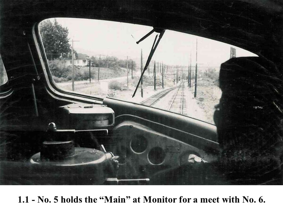 """1.1 - No. 5 holds the """"Main"""" at Monitor for a meet with No. 6."""