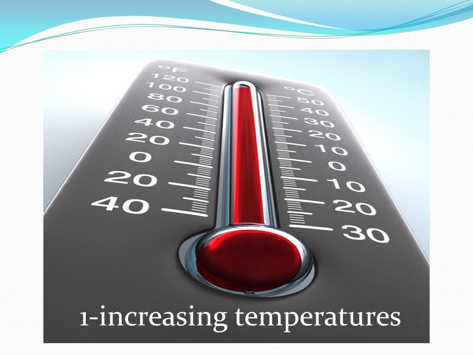 1-increasing temperatures