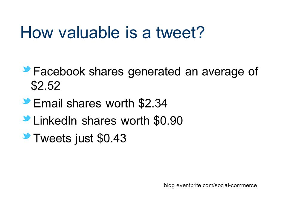How valuable is a tweet.