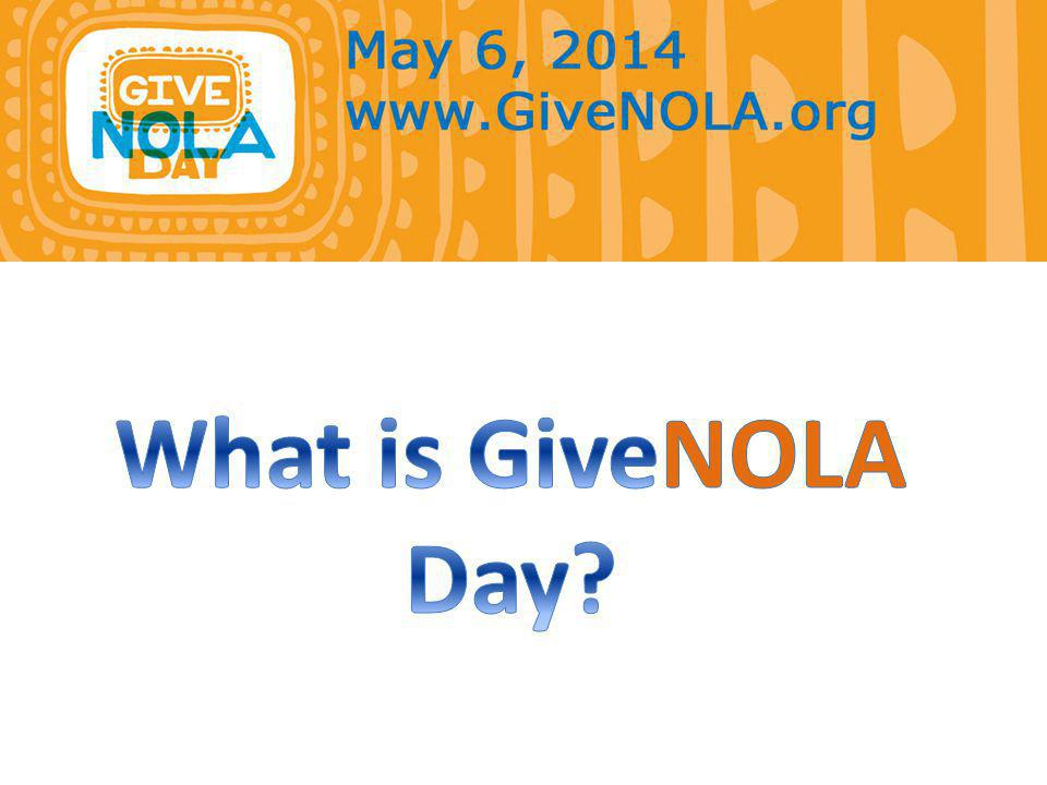 The Match GiveNOLA Day is…