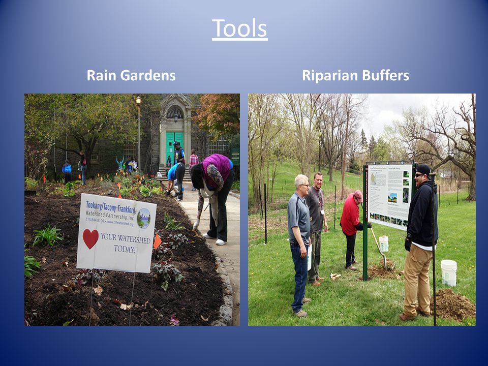 Tools Rain GardensRiparian Buffers