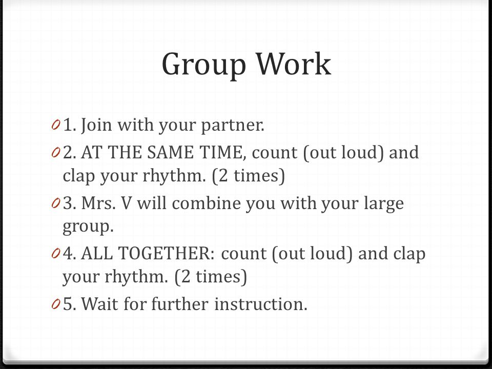 Group Work 0 1. Join with your partner. 0 2.