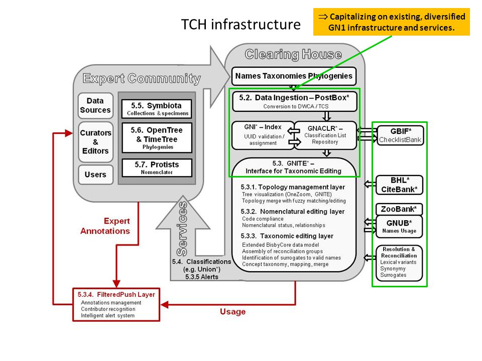 TCH infrastructure  Capitalizing on existing, diversified GN1 infrastructure and services.