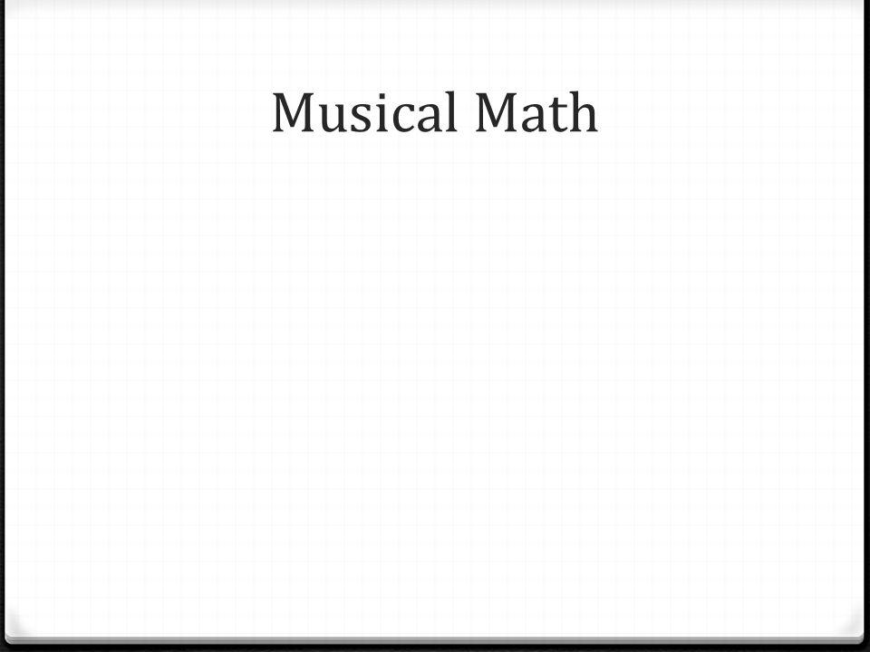 Musical Math