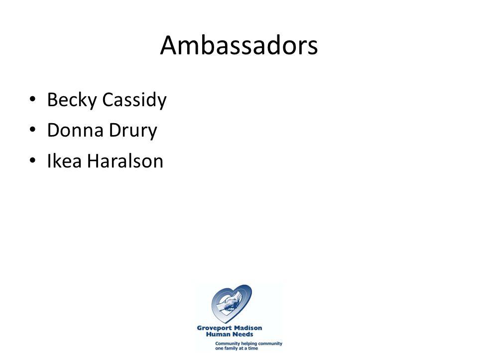 Ambassadors Becky Cassidy Donna Drury Ikea Haralson