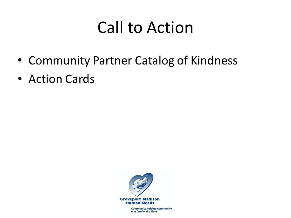 Call to Action Community Partner Catalog of Kindness Action Cards
