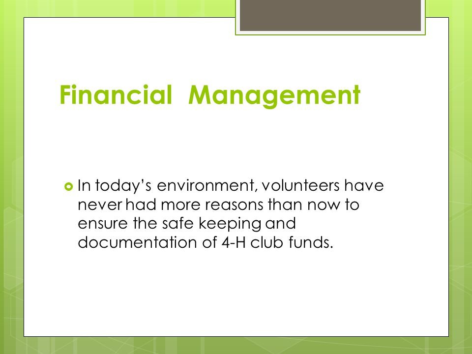 What Is the Best Way to Manage Your Club's Funds.