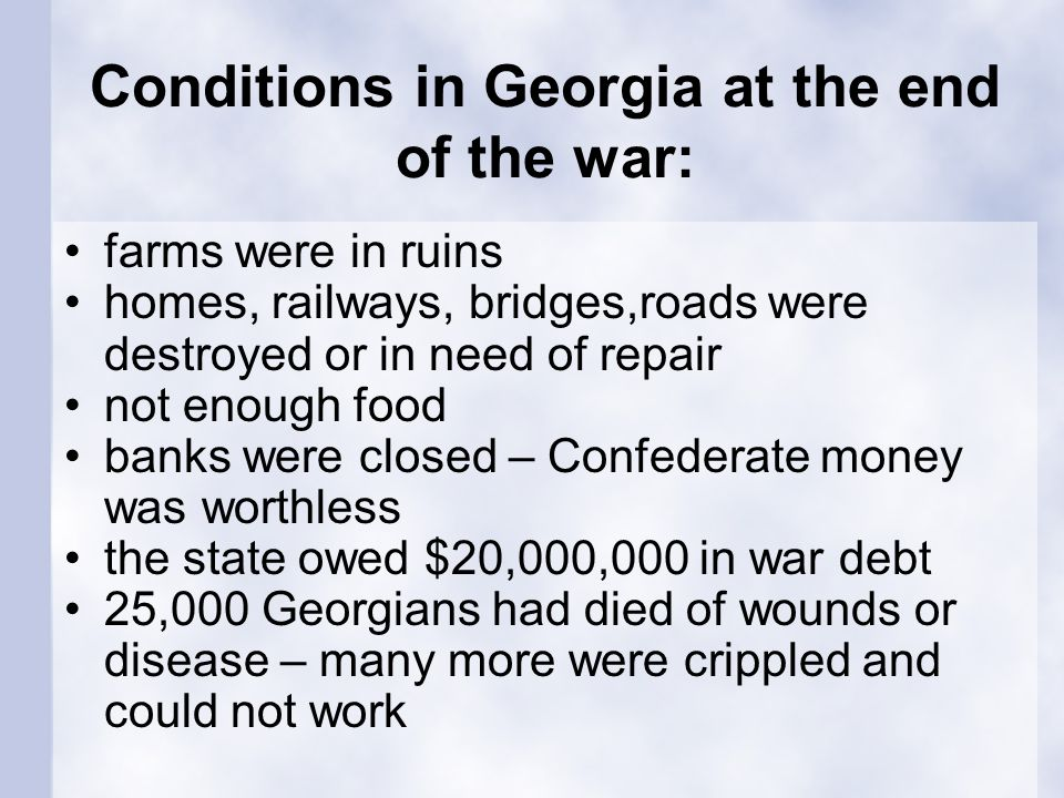 Section 3: Georgia's Redemption Years What words do I need to know.