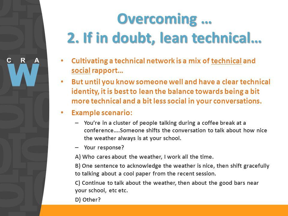 Overcoming … 2.