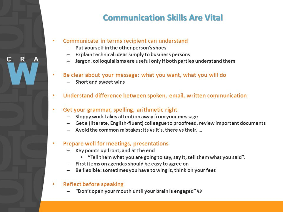 Where Communications Skills Are Needed Everywhere!.