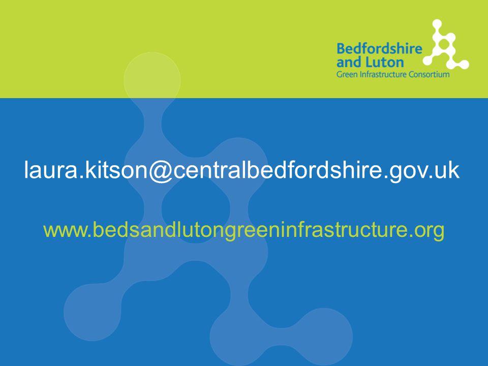 laura.kitson@centralbedfordshire.gov.uk www.bedsandlutongreeninfrastructure.org