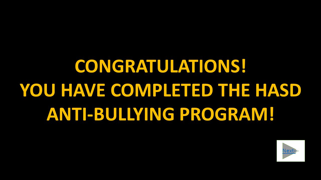 ________________________________________________________________________________ HAS SUCCESSFULLY COMPLETED THE STUDENT ANTI-BULLYING PROGRAM ROCCO PETRONEDR.
