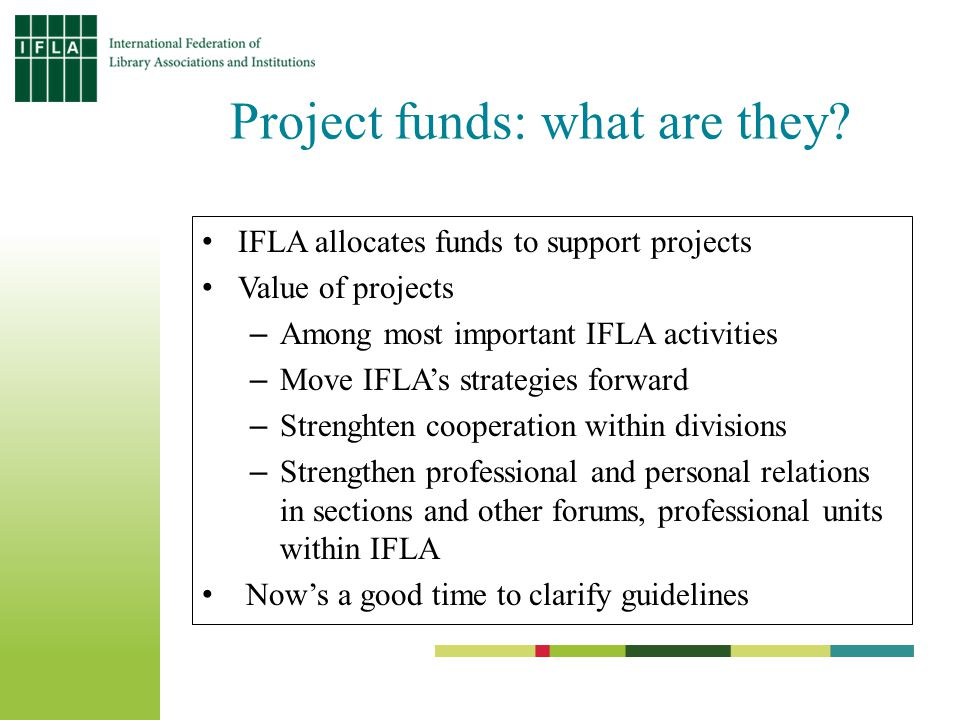 Project funds: what are they.