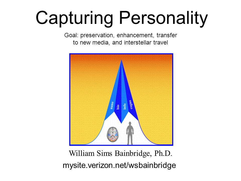 Capturing Personality William Sims Bainbridge, Ph.D.