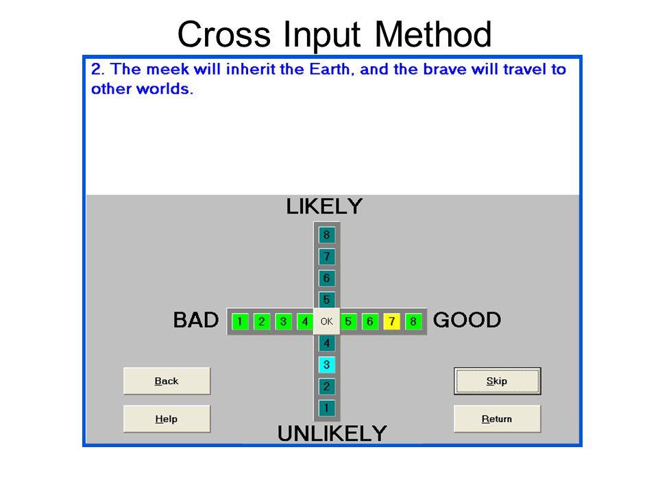 Cross Input Method