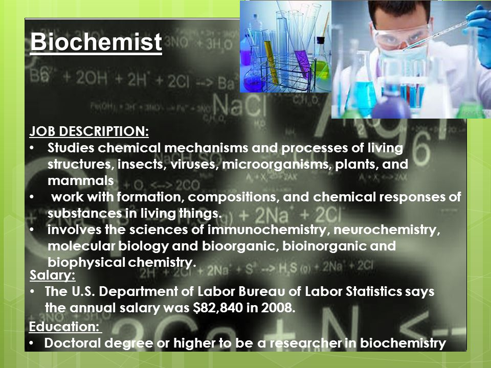 Pharmaceutical Scientist  These scientists work in labs everyday developing new medication from plants and other products. They find out how these me