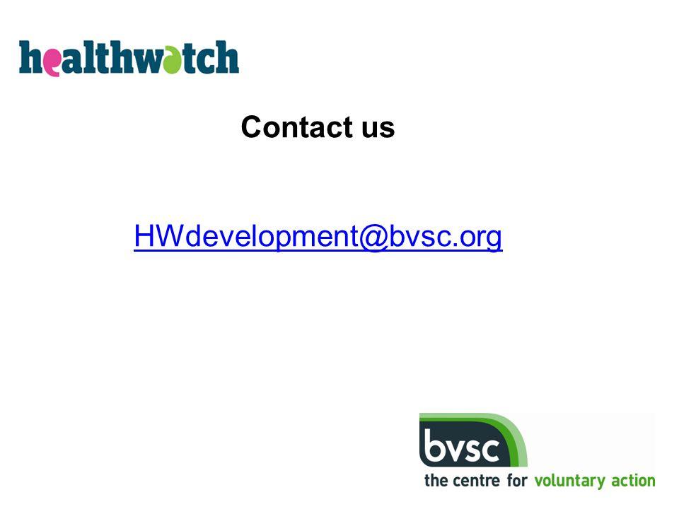 Contact us HWdevelopment@bvsc.org