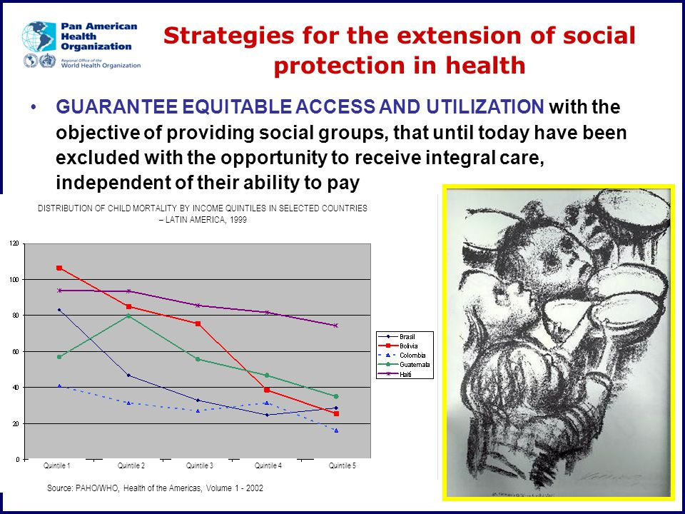 Strategies for the extension of social protection in health GUARANTEE EQUITABLE ACCESS AND UTILIZATION with the objective of providing social groups,
